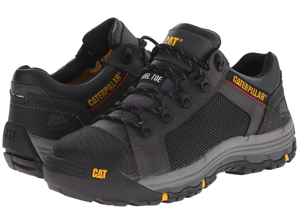 Caterpillar - Convex Lo Steel Toe (Black) Men's Work Boots