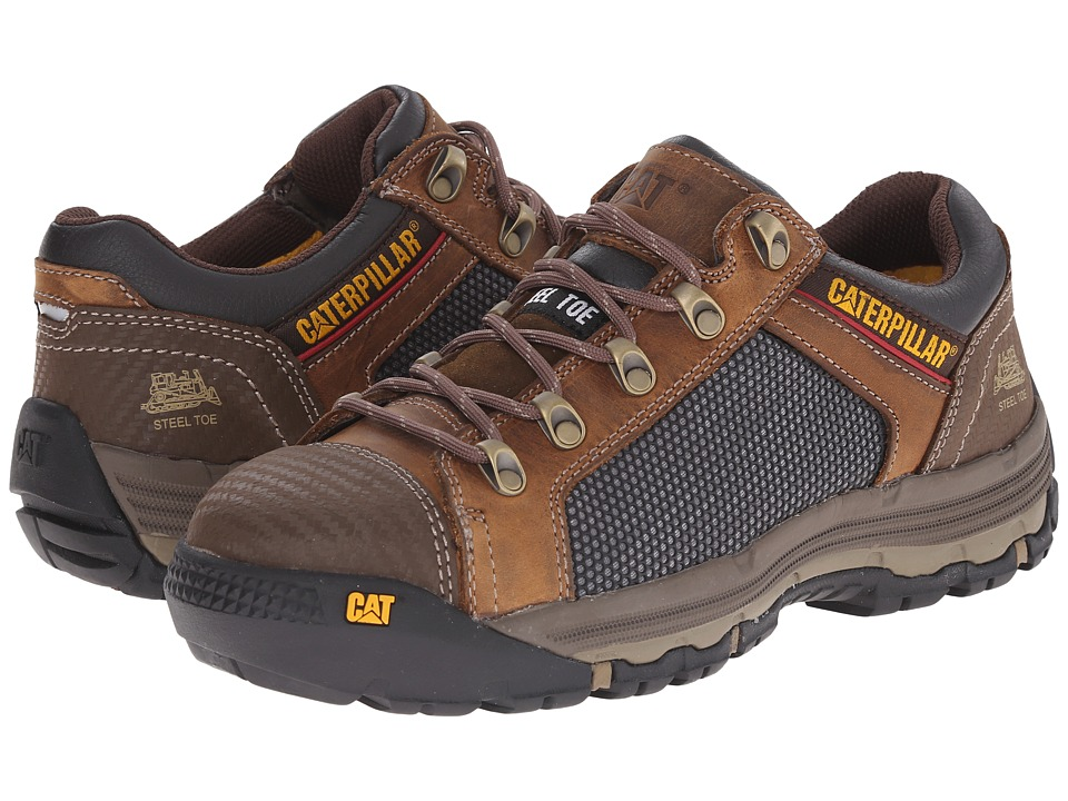 Caterpillar - Convex Lo Steel Toe (Dark Beige) Men's Work Boots