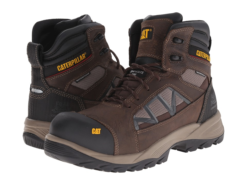 Caterpillar - Compressor 6 Waterproof Composite Toe (Clay) Men's Work Boots
