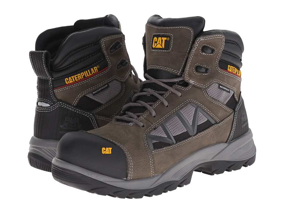Caterpillar - Compressor 6 Waterproof Composite Toe (Dark Gull Grey) Men's Work Boots