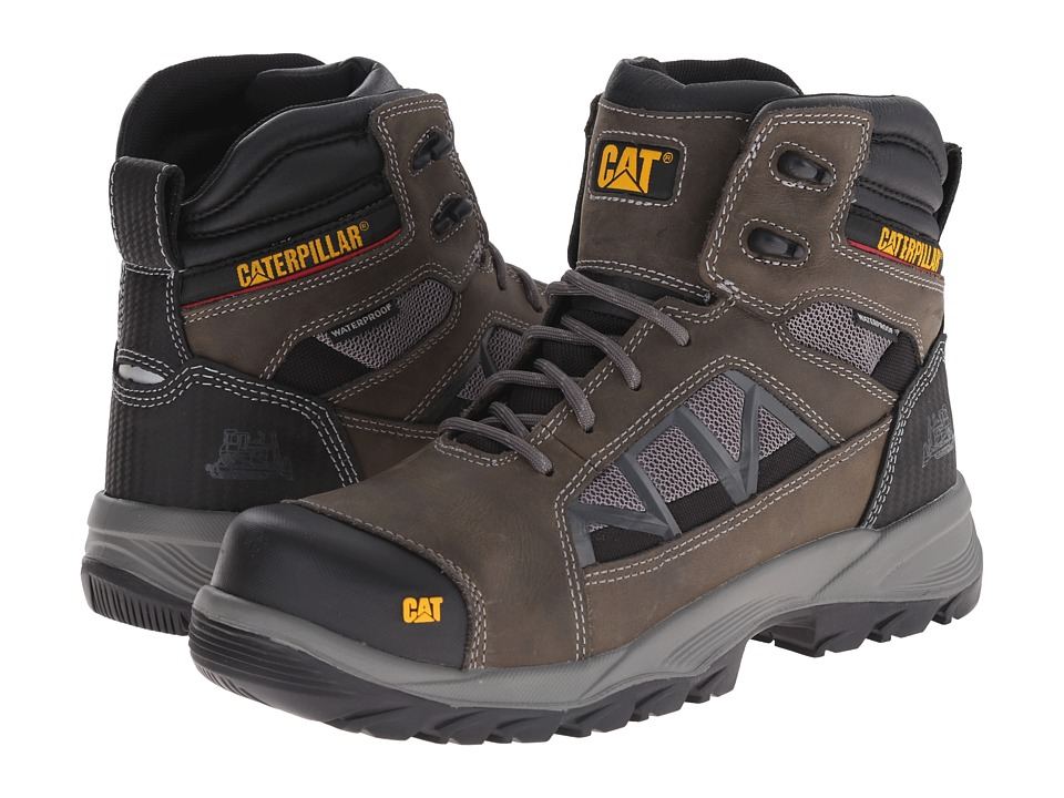 Caterpillar - Compressor 6 Waterproof Soft Toe (Dark Gull Grey) Men's Work Boots