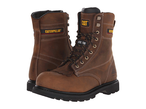 Caterpillar - Galvin Steel Toe (Dark Brown) Men's Work Boots