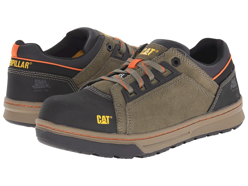 Caterpillar - Concave Lo Steel Toe (Burnt Olive) Men's Work Boots