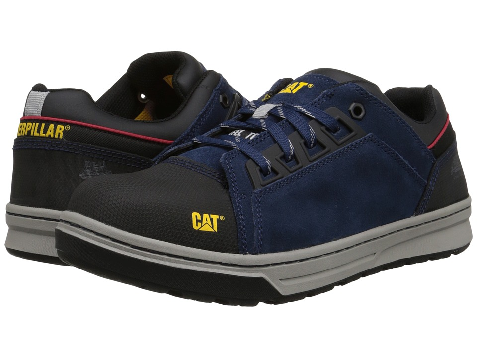 Caterpillar - Concave Lo Steel Toe (Dark Navy) Men's Work Boots