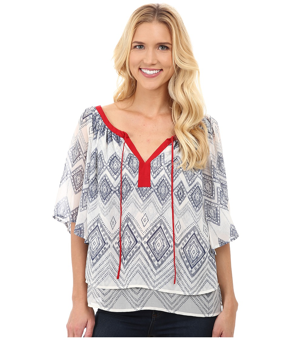 Ariat - Lucinda Tunic (Whisper White Multi) Women's Blouse