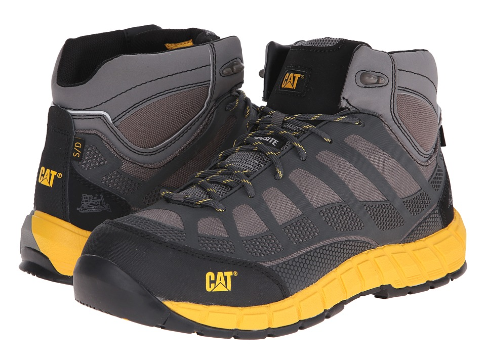 Caterpillar - Streamline Mid ESD Compostie Toe (Grey) Men's Work Boots