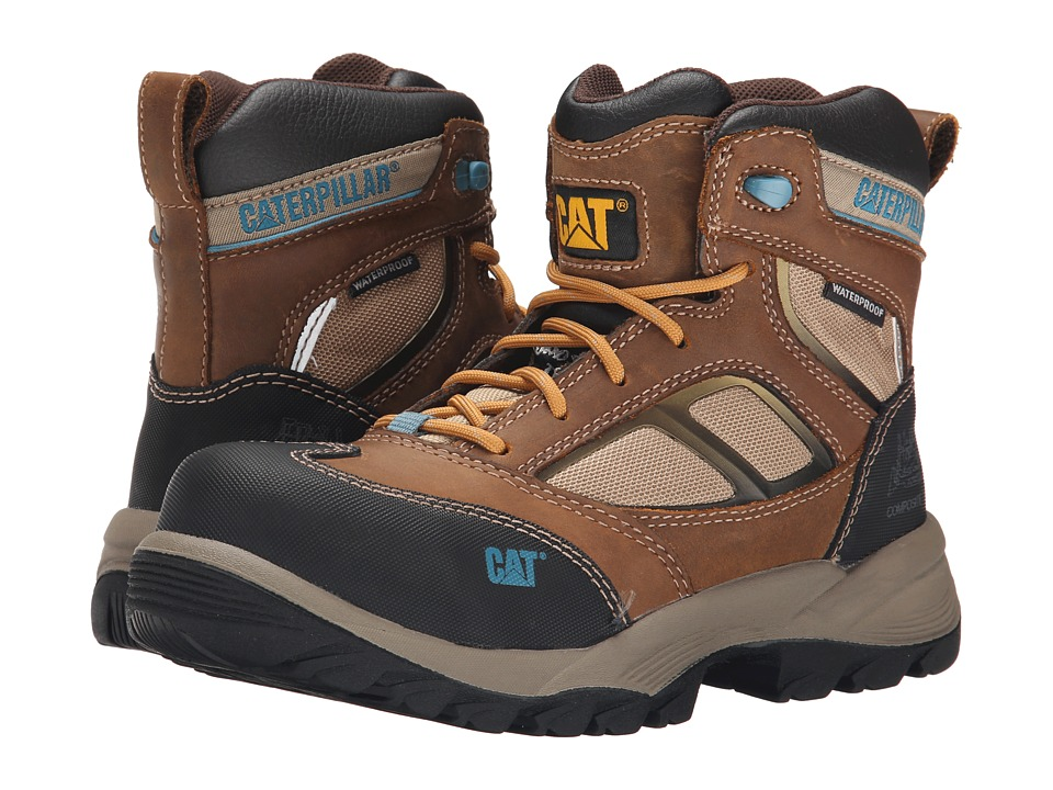 Caterpillar - Shaman 6 Waterproof Composite Toe (Brown) Women's Work Boots