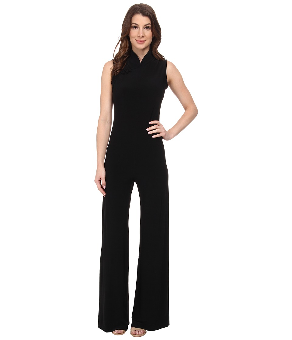 KAMALIKULTURE by Norma Kamali - Sleeveless Suzie Q Jumpsuit (Black) Women's Jumpsuit & Rompers One Piece