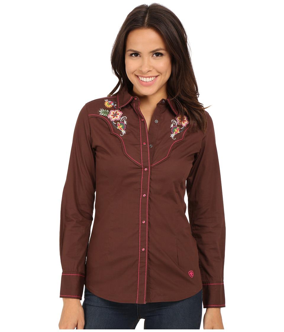 Ariat - June Snap Shirt (Bitter Chocolate) Women's Long Sleeve Button Up