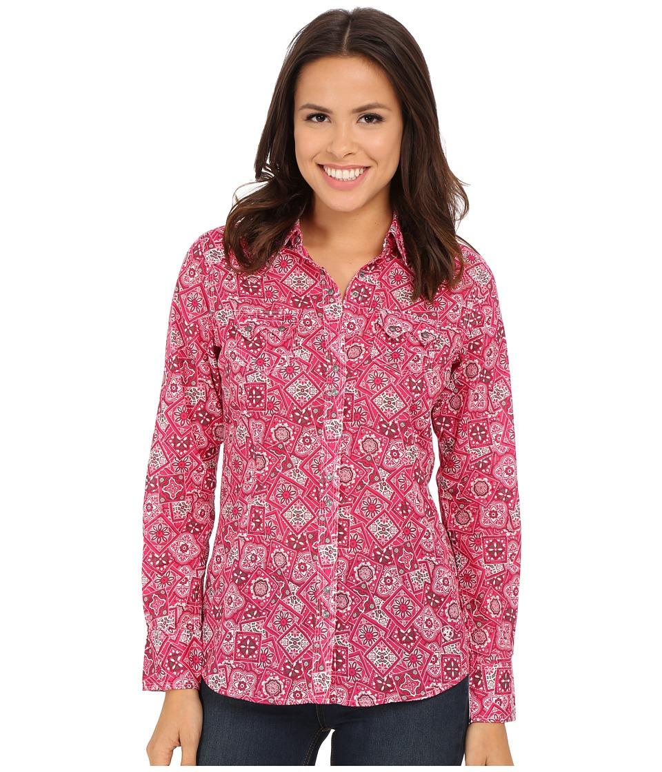 Ariat - Mabel Snap Shirt (Pink Hibiscus) Women