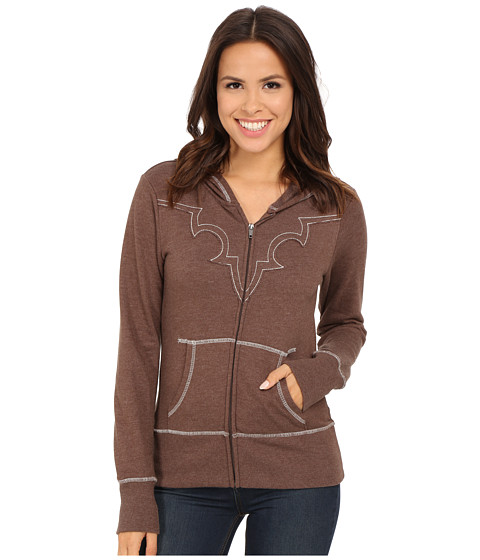 Ariat - Lulu Zip Hoodie (Bitter Chocolate Heather) Women's Sweatshirt