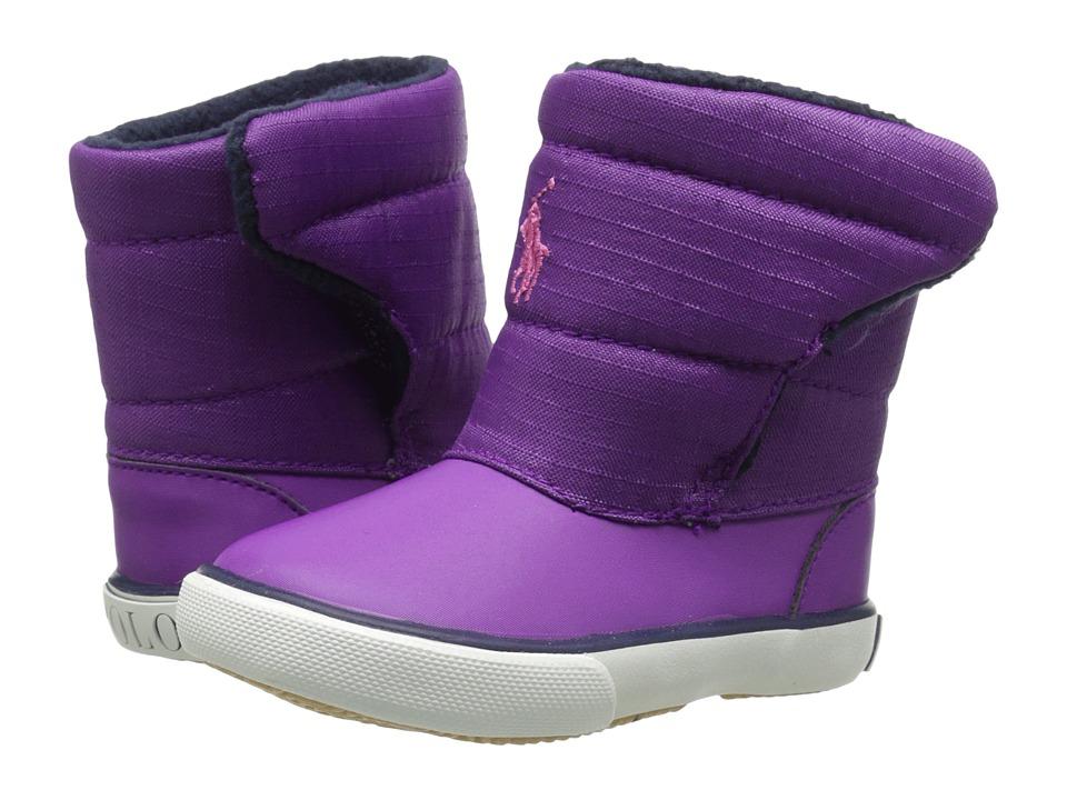 Polo Ralph Lauren Kids - Damien (Toddler) (Purple Nylon/Pink) Kid's Shoes