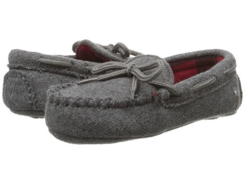 Polo Ralph Lauren Kids - Rustle Moc (Toddler) (Grey Wool/Buffalo Plaid/Multi Pony) Kids Shoes