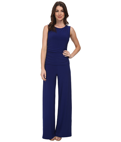 KAMALIKULTURE by Norma Kamali - Sleeveless Shirred Waist Jumpsuit (Blueberry) Women's Jumpsuit & Rompers One Piece