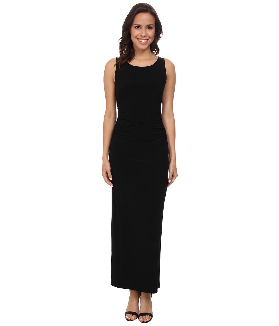 KAMALIKULTURE by Norma Kamali - Sleeveless Shirred Waist Half Calf Dress (Black) Women's Dress
