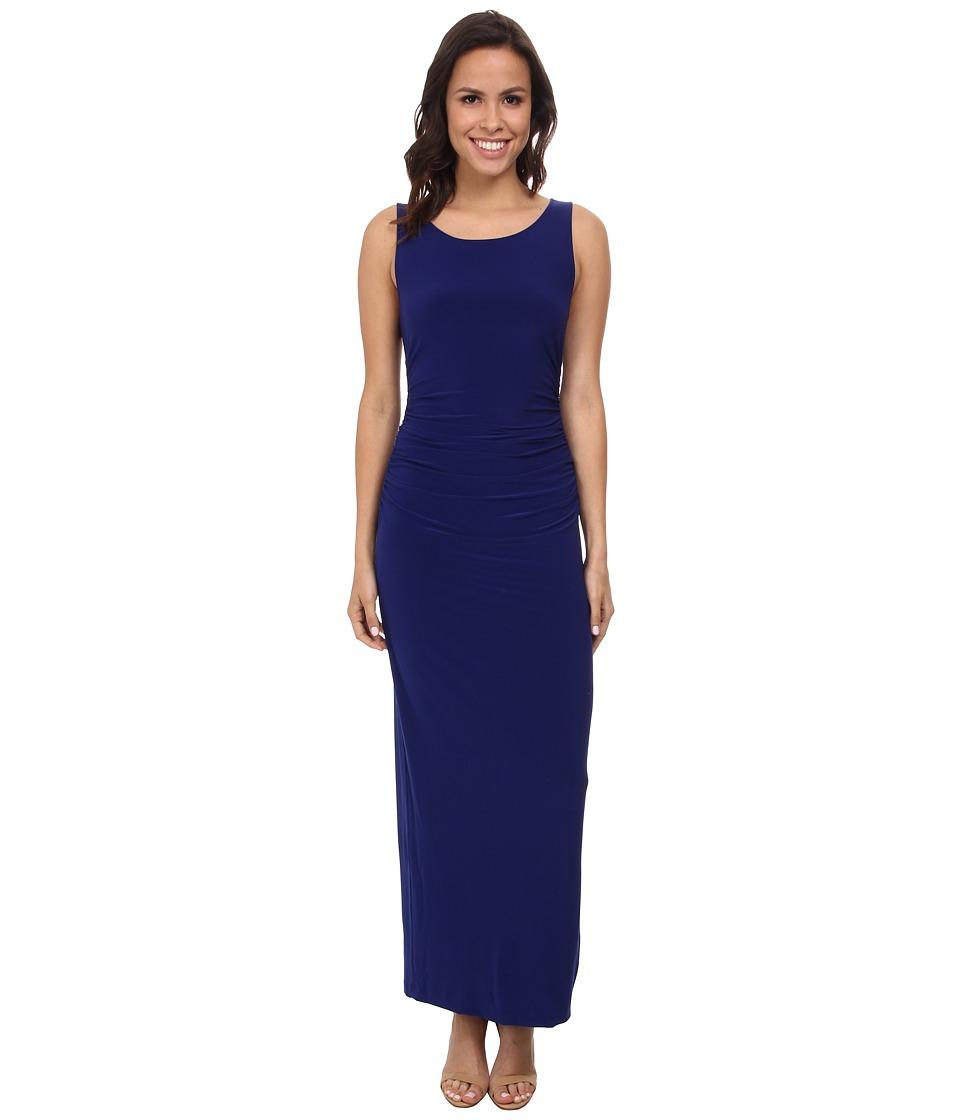 KAMALIKULTURE by Norma Kamali - Sleeveless Shirred Waist Half Calf Dress (Blueberry) Women's Dress