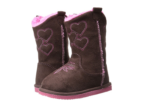 Western Chief Kids - Western Bootie (Toddler/Little Kid) (Chocolate) Girls Shoes