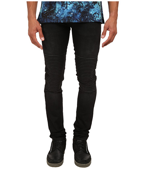 Versace Jeans - Skinny Motor Denim (Black) Men's Jeans