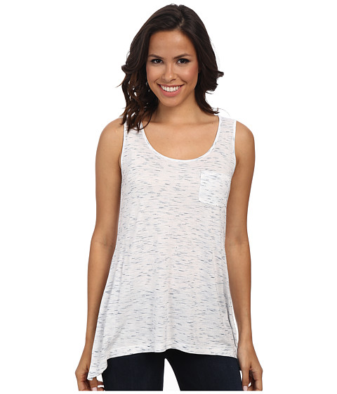 Jones New York - Drape Hem Tank Top (J White/Navy) Women's Sleeveless