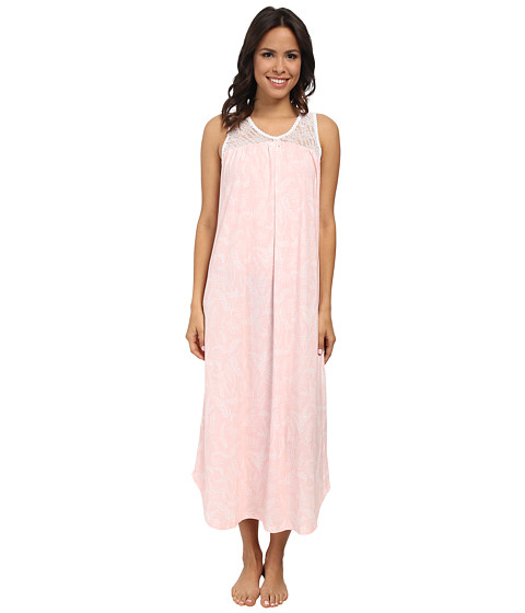 Carole Hochman - Gown with Stretch Lace (Garden Fern Pink) Women's Pajama