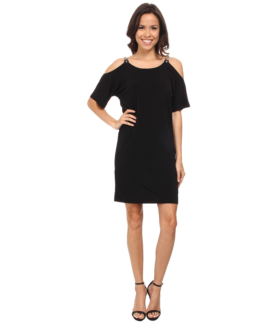 MICHAEL Michael Kors - Matte Jersey Cold Shoulder Dress (Black) Women