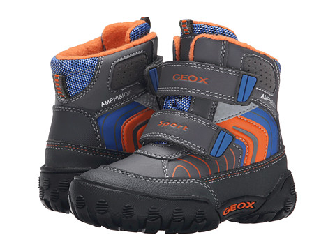 Geox Kids - Gulp Abx 3 (Toddler) (Dark Grey/Orange) Boy's Shoes