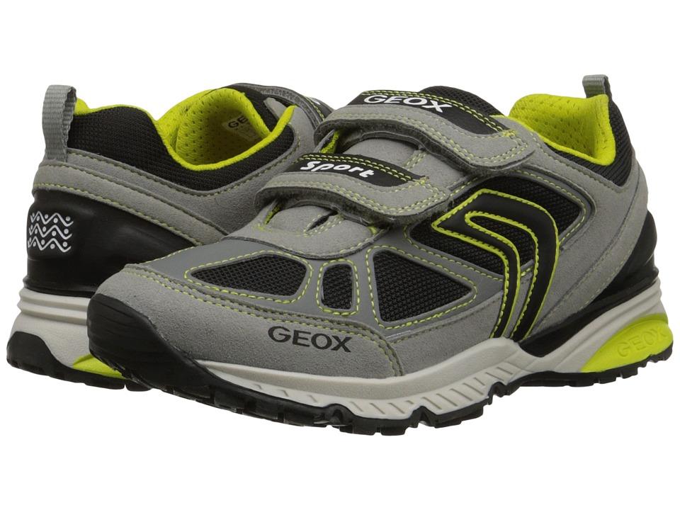 Geox Kids - Bernie 7 (Big Kid) (Grey/Lime) Boy