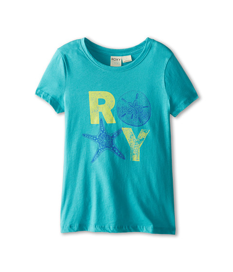 Roxy Kids - Shells Crew Neck Tee (Big Kids) (Baltic Blue) Girl