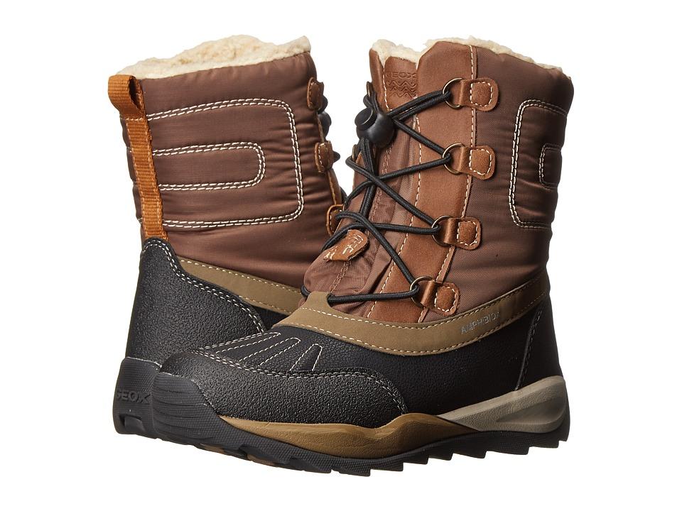 Geox Kids Jr. Orizont Abx 2 (Little Kid/Big Kid) (Coffee/Black) Boys Shoes