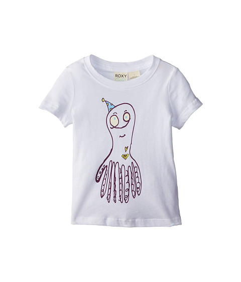 Roxy Kids - Octopus Crew Neck Tee (Toddler/Little Kids/Big Kids) (Sea Salt) Girl's T Shirt