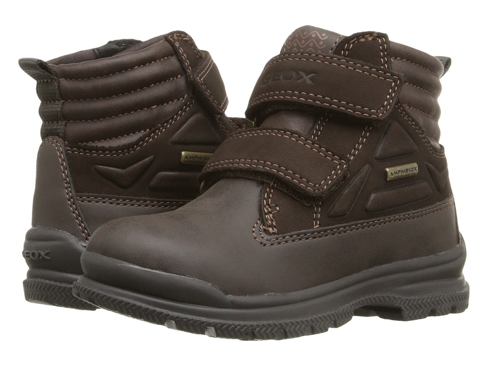 Geox Kids - Jr. William Abx 3 (Toddler/Little Kid) (Coffee) Boy's Shoes