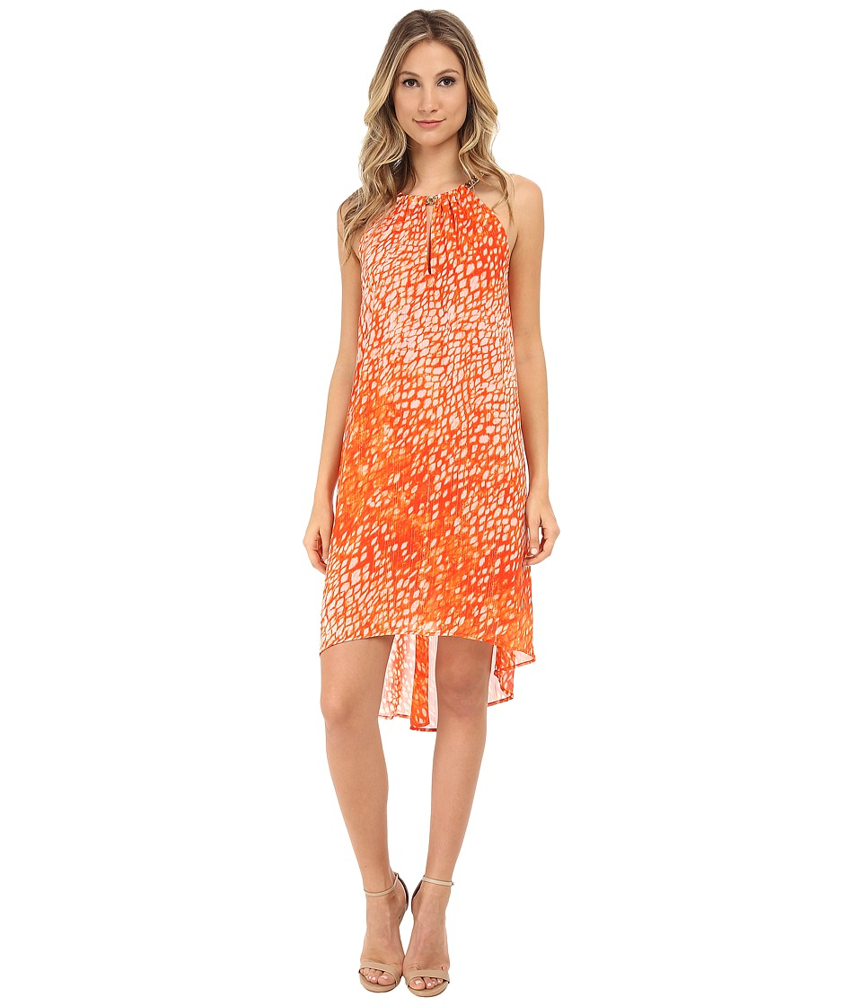 MICHAEL Michael Kors - Sorento Tie-Dye Dress (Clementine) Women's Dress