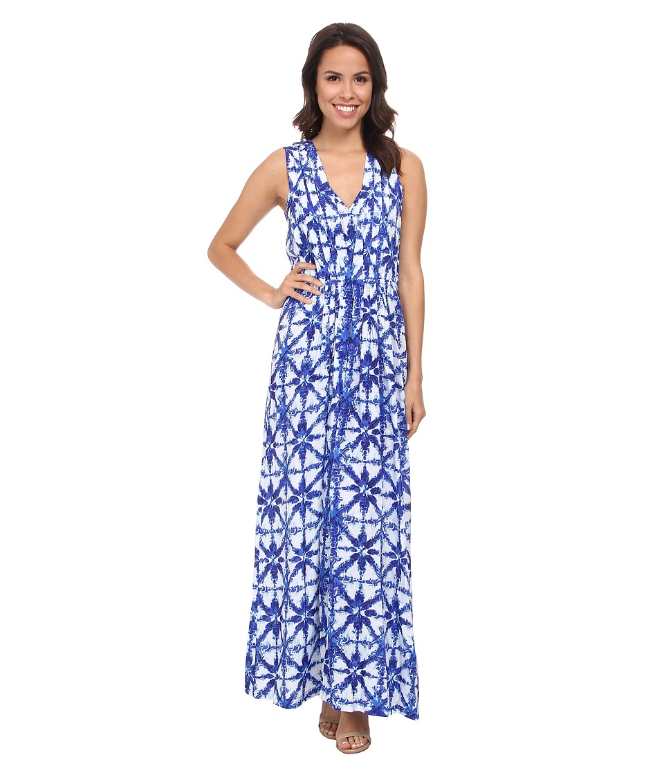 MICHAEL Michael Kors - Glazed Tile Maxi (Royal) Women's Dress