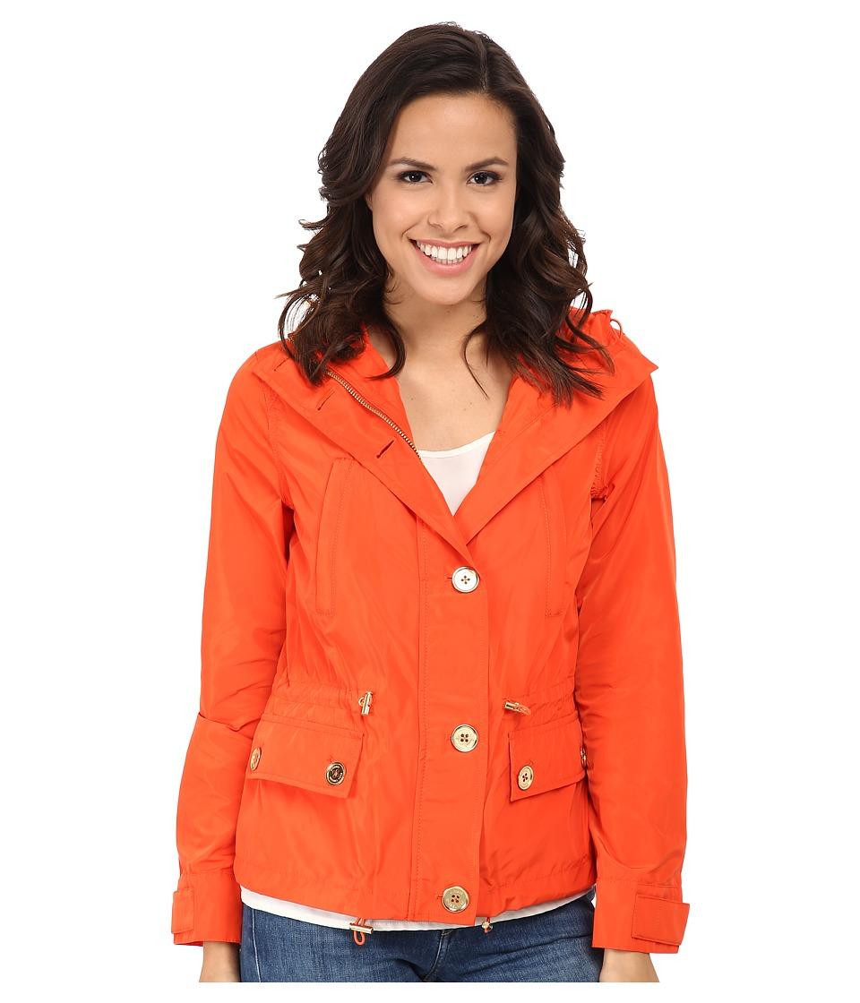MICHAEL Michael Kors - Mini Anorak (Dark Clementine) Women's Coat plus size,  plus size fashion plus size appare