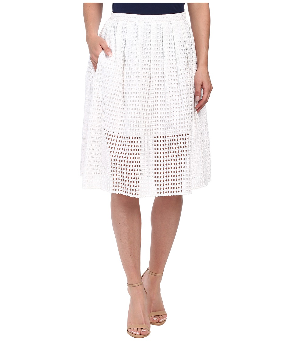 MICHAEL Michael Kors - Eyelet Skirt (White) Women's Skirt