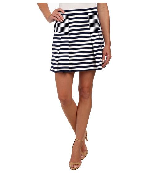MICHAEL Michael Kors - Flare Stripe Mini Skirt (Prussian Blue) Women