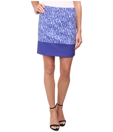 MICHAEL Michael Kors - Print Blocked Mini (Royal) Women's Skirt