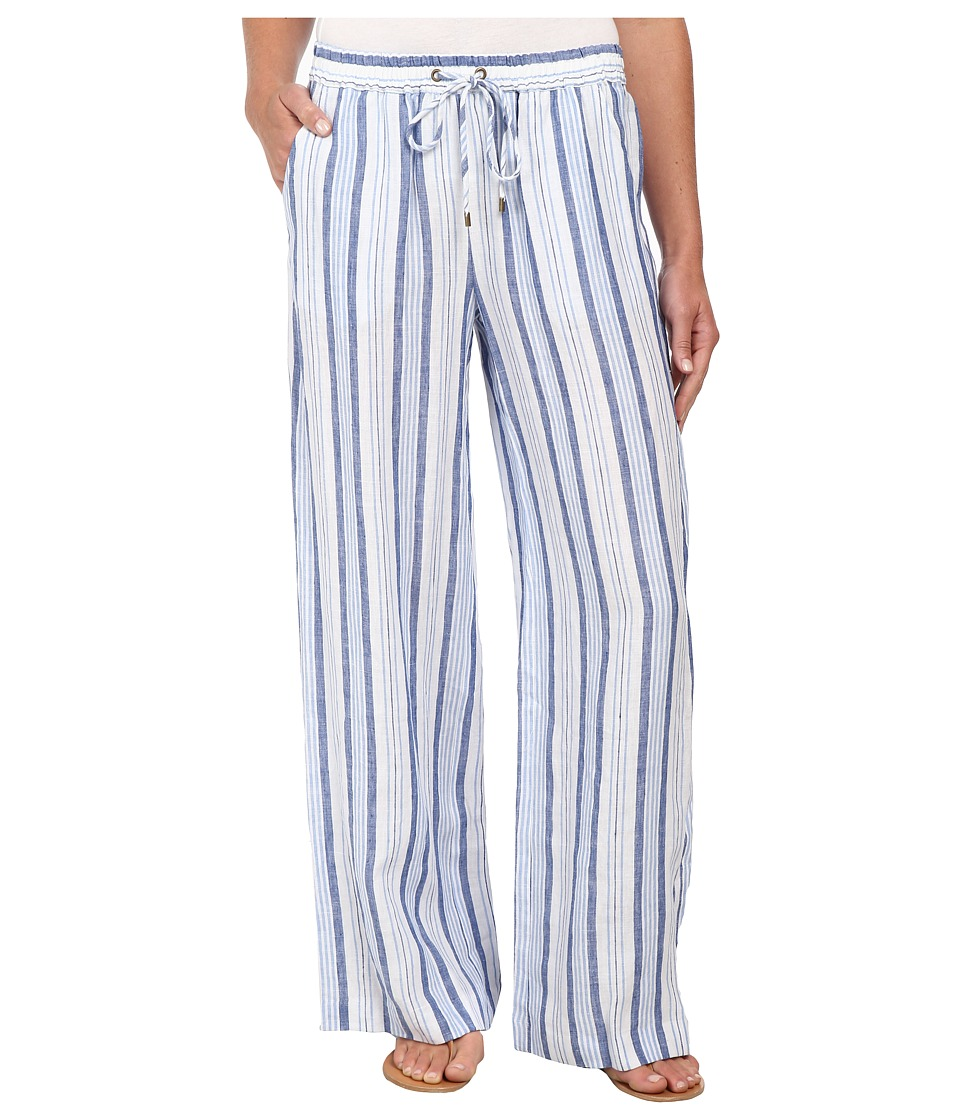 MICHAEL Michael Kors - Striped Wide Leg Pants (Flint Blue) Women's Casual Pants