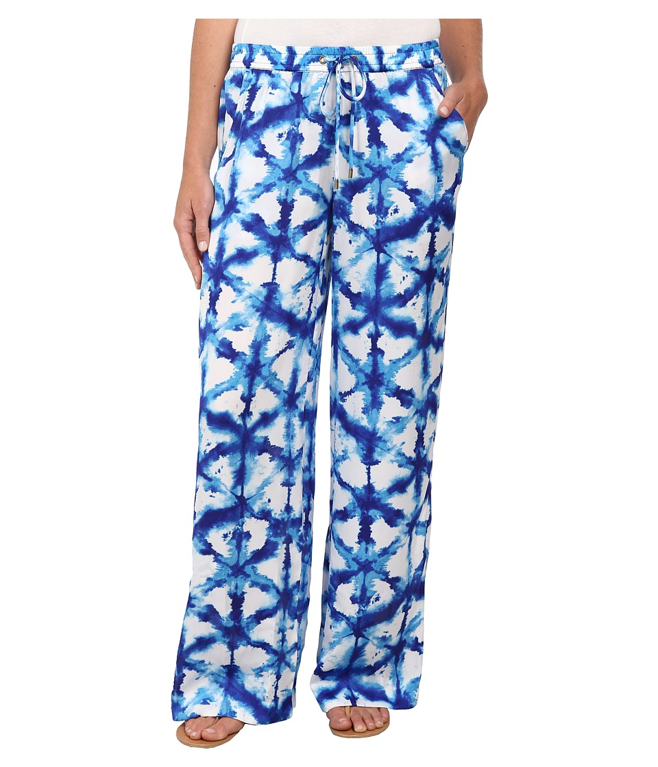 MICHAEL Michael Kors - Tie-Dye Wide Leg Pants (Royal) Women's Casual Pants