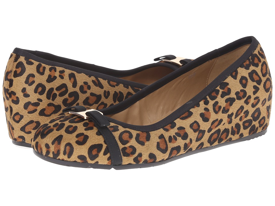 Vaneli - Aretha (Camel Leo Hair) Women's Flat Shoes
