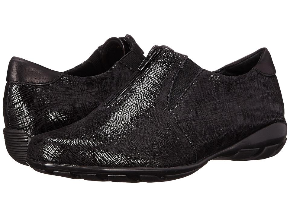 Vaneli - Armida (Black Trama Print) Women's Slip on Shoes