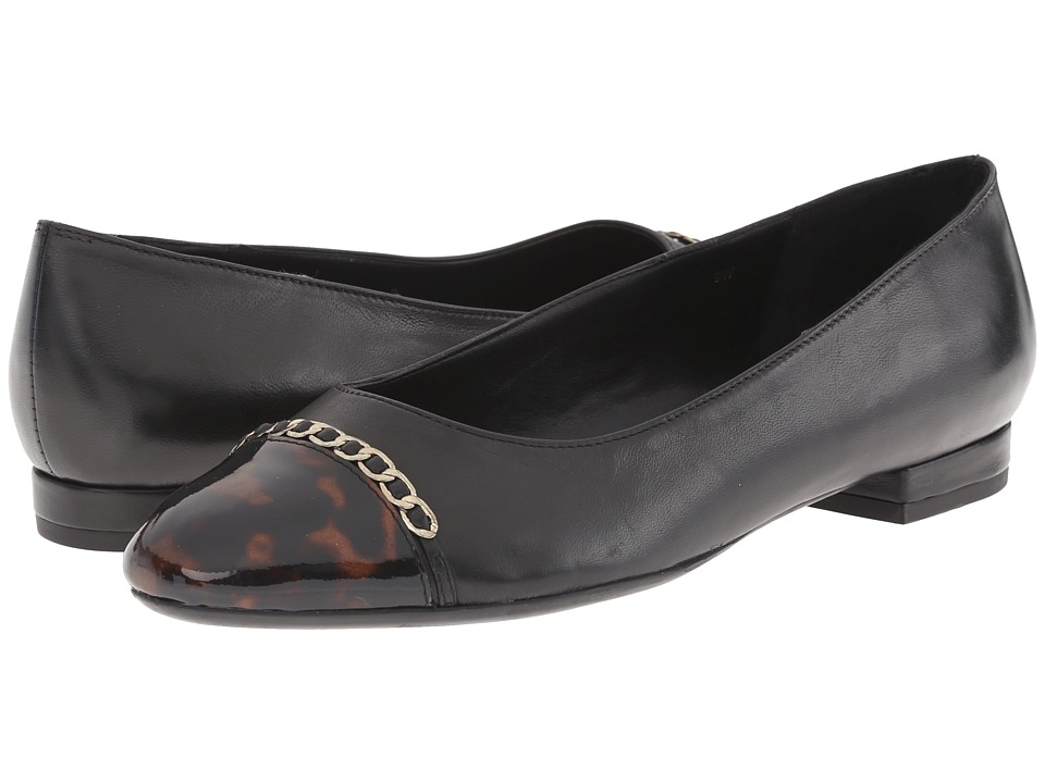 Vaneli - Calida (Black Nappa/Sandra Loc Tort) Women's Flat Shoes