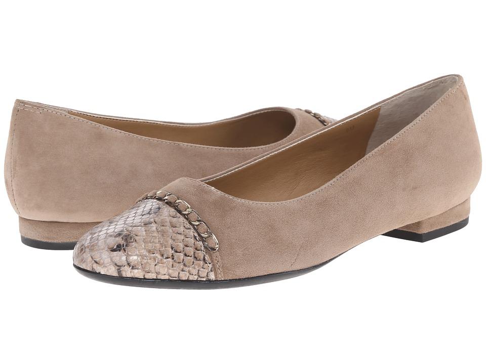 Vaneli - Calida (Truffle Suede/Matching Dialux Print) Women's Flat Shoes