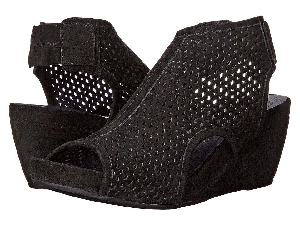 Vaneli - Inez (Black Suede) Women's Wedge Shoes