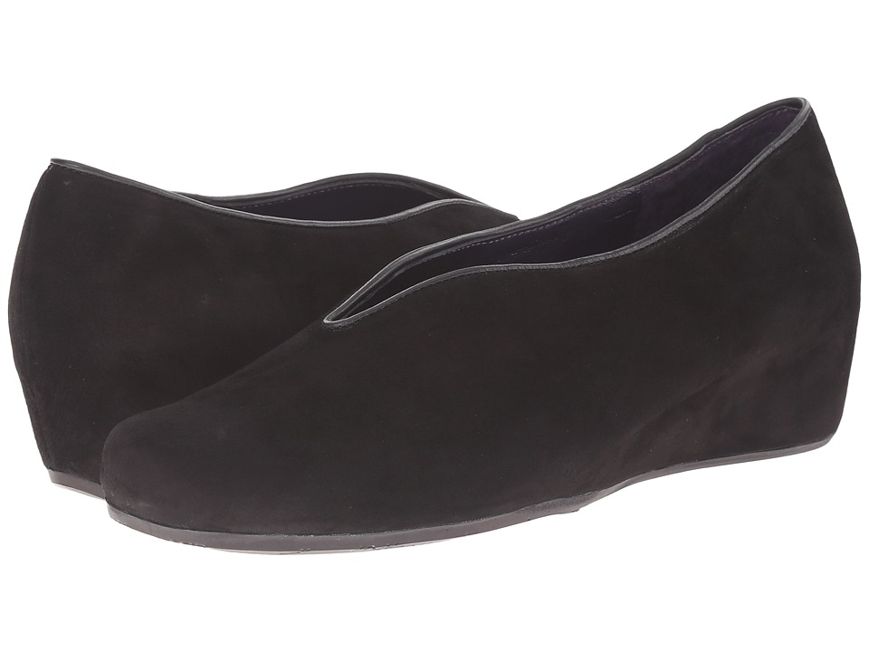 Vaneli - Morgan (Black Suede/Black Nappa) Women's Wedge Shoes