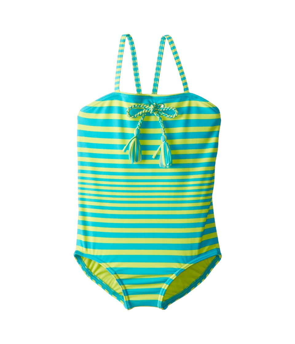 Roxy Kids - Stripe One-Piece (Toddler/Little Kids/Big Kids) (Turquoise) Girl's Swimsuits One Piece