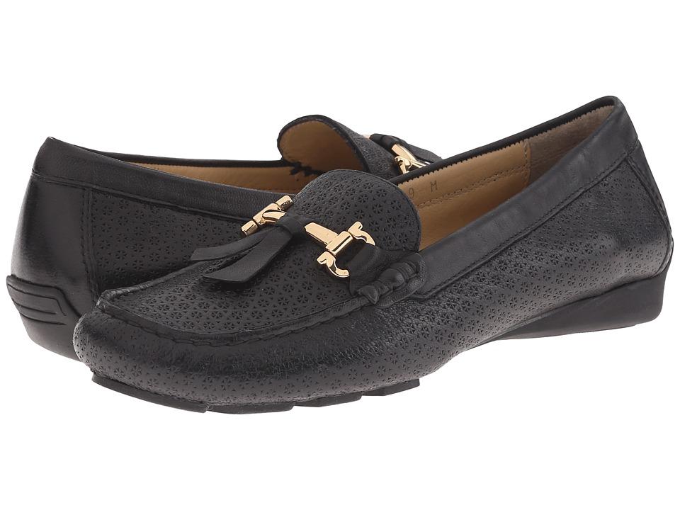 Vaneli - Rianne (Black Nubia/Gold Hardware) Women's Flat Shoes