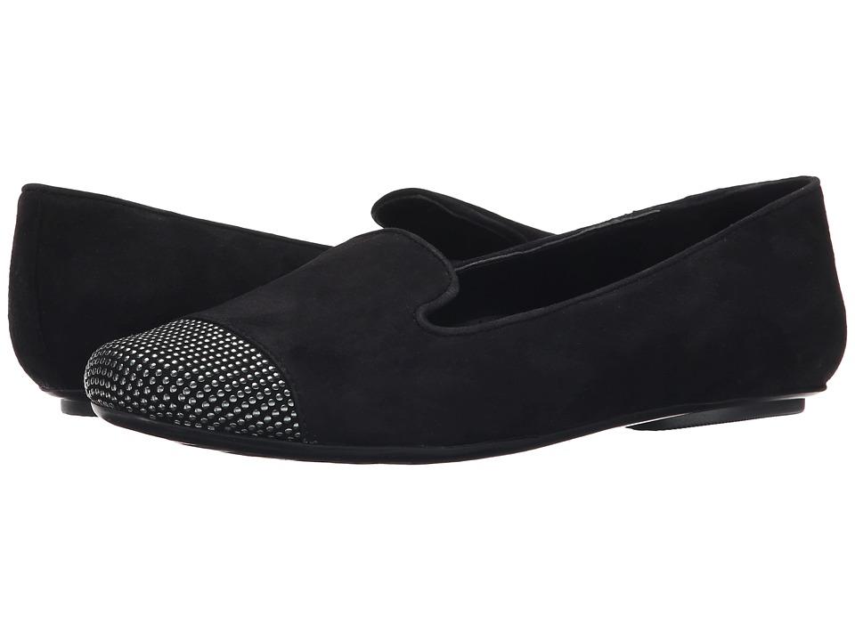 Vaneli - Scarlet (Black Suede/Gunmetal Studs) Women's Slip on Shoes