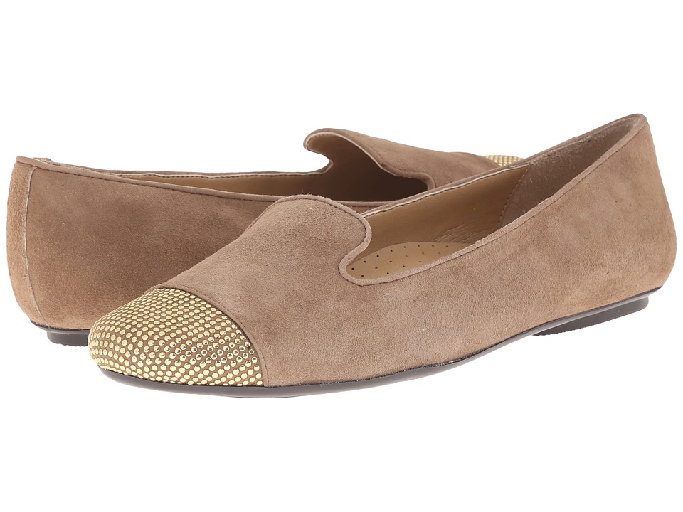 Vaneli - Scarlet (Truffle Suede/Gold Studs) Women's Slip on Shoes