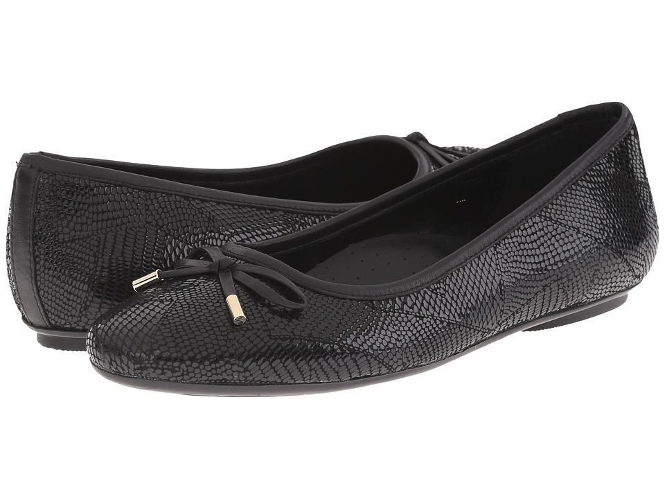 Vaneli - Signy (Black Patchwork) Women's Flat Shoes